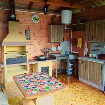 Печь барбекю и печь под казан на кухне